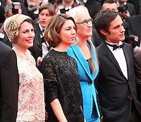 Leila Hatami, Sofia Coppola, Jane Campion and Gael Garcia Bernal  at the the Grace of Monaco gala screening and opening ceremony red carpet at the 67th Cannes Film Festival France. Wednesday 14th May 2014 in Cannes Film Festival, France.