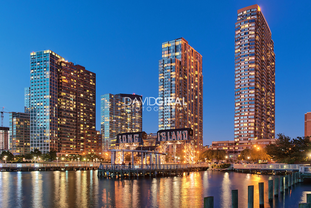 Architecture Photography: Luxury Condos and gantries at Gantry Plaza State Park, Long Island, Queens, New York
