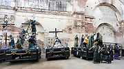 Figures for processions in Semana Santa, Holy Week, in Antigua. Antigua Guatemala, Republic of Guatemala. 15Mar14