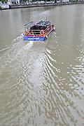 Tour boat on the Singapore River, Singapore