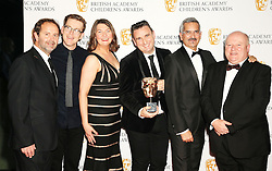 Winners of the Independent Production Company award Sixteen South at the British Academy Children's Awards, at the Roundhouse in Camden, north London.