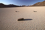 Weather: An area of desert known as the Racetrack, in California's Death Valley on a crystal clear summer day right after sunrise.  (1982)