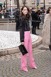 Stacy Martin arriving at the Miu Miu show as part of the Paris Fashion Week Womenswear Fall/Winter 2018/2019 in Paris, France on March 6, 2018. Photo by Julien Reynaud/APS-Medias/ABACAPRESS.COM