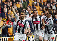 Photo: Rich Eaton.<br /> <br /> Wolverhampton Wanderers v West Bromwich Albion. Coca Cola Championship. Play off Semi Final, 1st Leg. 13/05/2007. West Broms Kevin Phillips celebrates scoring his second goal to make it 2-2 with Paul Robinson (centre) and Jason Koumas (right)