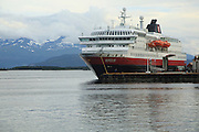 Hurtigruten coastal express ferry ship at Molde, Romsdal county, Norway