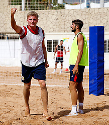 Taylor Moore celebrates after scoring a goal in beach football - Mandatory by-line: Matt McNulty/JMP - 18/07/2017 - FOOTBALL - Tenerife Top Training Centre - Costa Adeje, Tenerife - Pre-Season Training