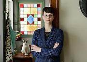Amber Canavan at her home in Syracuse, NY, Saturday, Feb. 21, 2015. Canavan shot video of conditions at Hudson Valley Foie Gras, the nation's largest producer of the controversial delicacy, nearly four years ago. That video subsequently ended up online, and showed the unappetizing image of force-fed ducks. Whilst there, Canavan decided to take some of the anatine labor home with her. Hudson Valley was not amused, and neither was Jim Farrell, the Sullivan County DA. And now, after a two-year-delay, the charges have apparently come home to roost.<br /> (Heather Ainsworth for The New York Times)