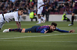 May 12, 2019 - Barcelona, Spain - Gerard Pique during the match between FC Barcelona angd Getafe, corresponding to the round 37 of the Liga Santander, played at the Camp Nou Stadium, on 12th May 2019, in Barcelona, Spain. (Credit Image: © Joan Valls/NurPhoto via ZUMA Press)