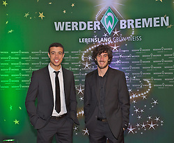 16.12.2013, GOP Variete-Theater, Bremen, GER, 1. FBL, Werder Bremen, Weihnachtsfeier, im Bild von links, Franco Matías Di Santo / Franco Matias Di Santo (SV Werder Bremen #9), Santiago Garcia (SV Werder Bremen #2) // von links, Franco Matías Di Santo / Franco Matias Di Santo (SV Werder Bremen #9), Santiago Garcia (SV Werder Bremen #2) during the Christmas Party of German Bundesliga Club Werder Bremen at the GOP Variete-Theater in Bremen, Germany on 2013/12/16. EXPA Pictures © 2013, PhotoCredit: EXPA/ Andreas Gumz<br /> <br /> *****ATTENTION - OUT of GER*****