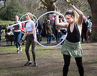 circus activities in St. Stephen's Green during the RTE Reflecting The Rising Event .<br />Photo: Tony Gavin 28/3/2016