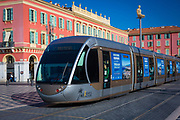 The Nice tramway is a tram system of 8.7km rail in Nice, France, currently composed of one line, and operated by the Société nouvelle des transports de l'agglomération niçoise division of Veolia Transdev under the name Lignes d'azur. It opened on 24 November 2007.