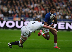 February 2, 2020, Saint Denis, Seine Saint Denis, France: The Center of French Team GAEL FICKOU in action during the Guinness Six Nations Rugby tournament between France and  England at the Stade de France - St Denis - France.. France won 24-17 (Credit Image: © Pierre Stevenin/ZUMA Wire)