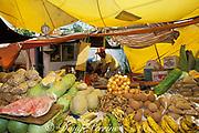 Venezuelan produce vendor at Floating Market, Willemstad,  Curacao, Netherlands Antilles
