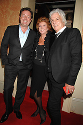 Left to right, PIERS MORGAN, CILLA BLACK and NICKY HASLAM at the engagement party of Vanessa Neumann and William Cash held at 16 Westbourne Terrace, London W2 on 15th April 2008.<br /><br />NON EXCLUSIVE - WORLD RIGHTS