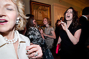 FIONA SHACKLETON; NIGELLA LAWSON, Nicholas Coleridge celebrates the publication of his novel; Deadly Sins. Dartmouth House, Charles St. London. 28 April 2009