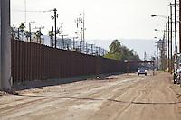 US-Mexican border and US border patrol Calexico California