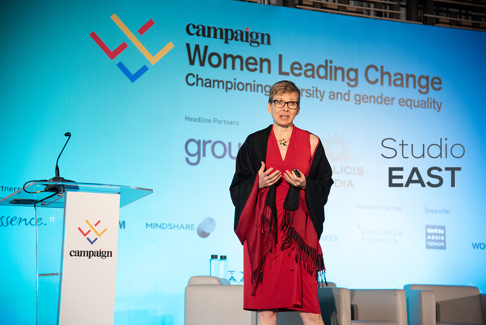 Presentation 'Leading with authenticity' by Mette Johansson, during the Women Leading Change Forum at Parkroyal on Pickering, in Singapore, Singapore, on 4 June 2019. Photo by Steven Lui/Studio EAST
