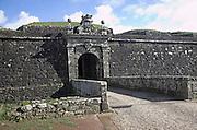 Fortified town walls, Valença do Minho, Portugal,