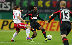 25.10.2011, Red Bull Arena, Meuselwitz, GER, DFB 2. Pokalrunde, ZFC Meuselwitz  vs Hertha BSC Berlin, im Bild.Timo Röttger (Leipzig) gegen Lorenzo Davids (Augsburg)  .// during the Pokal fight first Round from GER, RB Leipzig vs FC Augsburg on 2011/10/25, Red Bull Arena, Leipzig, Germany..EXPA Pictures © 2011, PhotoCredit: EXPA/ nph/  Hessland       ****** out of GER / CRO  / BEL ******