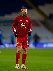 CARDIFF, WALES - Wednesday, November 18, 2020: Wales' captain Gareth Bale during the pre-match warm-up before the UEFA Nations League Group Stage League B Group 4 match between Wales and Finland at the Cardiff City Stadium. Wales won 3-1 and finished top of Group 4, winning promotion to League A. (Pic by David Rawcliffe/Propaganda)