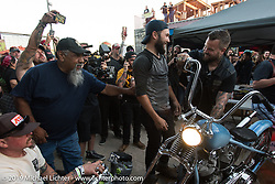 The Giddy Up Vintage Chopper Show at the River Road Ice House, New Breunfils, TX March 28, 2015, photographed by Michael Lichter. ©2015 Michael Lichter