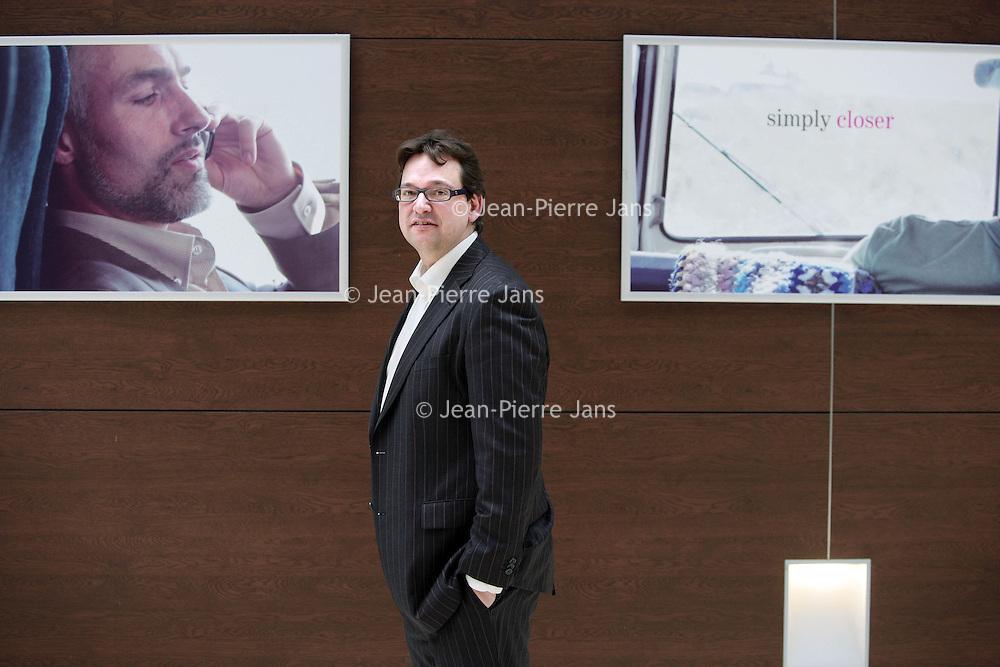 Nederland,Den Haag ,12 februari 2008..dhr Hans van Leeuwen, CFO van T-Mobile