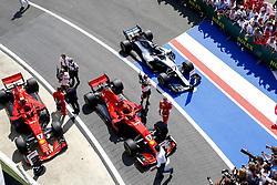 July 8, 2018 - Silverstone, Great Britain - Motorsports: FIA Formula One World Championship 2018, Grand Prix of Great Britain, .#7 Kimi Raikkonen (FIN, Scuderia Ferrari), #5 Sebastian Vettel (GER, Scuderia Ferrari) (Credit Image: © Hoch Zwei via ZUMA Wire)