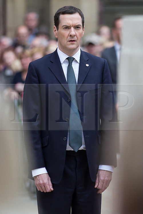 © Licensed to London News Pictures . 01/07/2016 . Manchester , UK .  GEORGE OSBORNE lays a wreath at the Cenotaph in St Peter's Square . Somme100 events in Manchester City Centre to commemorate the 100th anniversary of the first day of the Battle of the Somme . Photo credit : Joel Goodman/LNP