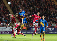 Football - 2017 / 2018 Sky Bet EFL League One - Play-Off Semi-Final, First Leg: Charlton Athletic vs. Shrewsbury Town<br /> <br /> Goalmouth action as Shrewsbury Town pile on the pressure at the Charlton Athletic goal at The Valley<br /> <br /> COLORSPORT/DANIEL BEARHAM