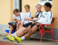 02/07/14<br /> CELTIC TRAINING<br /> AUSTRIA<br /> (L/R) Celtic's Teemu Pukki, Stefan Johansen, Anthony Stokes and Virgil Van Dijk