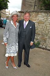SIR ANTHONY & LADY BAMFORD at the wedding of Hugh van Cutsem to Rose Astor in Burford, Oxfordshire on 4th June 2005.<br /><br />NON EXCLUSIVE - WORLD RIGHTS