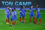 Olivier Giroud (FRA) scored the second goal and celebrated it with Nabil Fakir (FRA), Kingsley Coman (FRA), Kylian Mbappe (FRA), Benjamin Pavard (FRA), Steven N Zonzi (FRA), Samuel Umtiti (FRA) during the 2017 Friendly Game football match between France and Wales on November 10, 2017 at Stade de France in Saint-Denis, France - Photo Stephane Allaman / ProSportsImages / DPPI