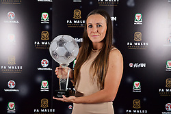 CARDIFF, WALES - Tuesday, November 8, 2016: FAW FAW Women's Player of the Year Winner Natasha Harding  during the FAW Awards Dinner at the Vale Resort. (Pic by David Rawcliffe/Propaganda)