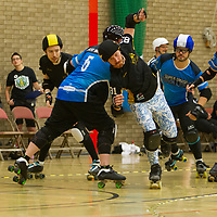 Tyne and Fear take on Nottingham's Super Smash Brollers at the 2018 MRDA European Qualifiers at North Bridge Leisure Centre, Halifax, United Kingdom, 2018-08-18