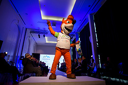 Mascot at Official presentation of the Designer wear for Slovenian Athletes at PyeongChang Winter Olympic Games 2018, on December 19, 2017 in Grand Hotel Union, Ljubljana, Slovenia. Photo by Urban Urbanc / Sportida