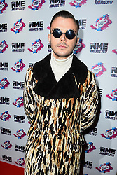 Theo Hutchcraft arriving for the VO5 NME Awards 2017 held at the O2 Brixton Academy, London. PRESS ASSOCIATION Photo. Picture date: Wednesday February 15, 2017. See PA Story SHOWBIZ NME. Photo credit should read: Matt Crossick/PA Wire