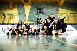 Team Calcit Volley celebrates wining National Championship after 3rd Leg Volleyball match between Calcit Volley and Nova KBM Maribor in Final of 1. DOL League 2020/21, on April 17, 2021 in Sportna dvorana, Kamnik, Slovenia. Photo by Matic Klansek Velej / Sportida