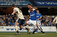 Photo: Ashley Pickering/Sportsbeat Images.<br /> Ipswich Town v Barnsley. Coca Cola Championship. 01/12/2007.<br /> Danny Haynes of Ipswich (blue) tries to find a way through the Barnsley defence
