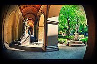 Garden & Gallery. Musee des Beaux Arts. Lyon - France
