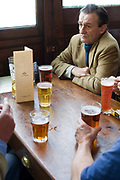 The Crown. A popular pub for beer and food in Islington, London. Real ale and lager