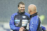 Fotball Tippeliga 18 runde<br />Viking Stadion 27/08-06<br />Viking - Vålerenga VIF<br /><br />Foto: Hofsmo, Digitalsport<br /><br />Petter Myhre og Harald Aabrekk var fornøyde etter kampen