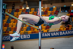 Sofie Dokter in action on high jump during the Dutch Athletics Championships on 14 February 2021 in Apeldoorn