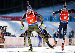 Andreas Birnbacher (GER) and Dominik Windisch (ITA) during Men 12,5 km Pursuit at day 3 of IBU Biathlon World Cup 2015/16 Pokljuka, on December 19, 2015 in Rudno polje, Pokljuka, Slovenia. Photo by Vid Ponikvar / Sportida