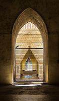 Interior of the Ananda Temple, a famous landmark in Bagan, Myanmar