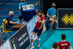 Crew in action during the CEV Eurovolley 2021 Qualifiers between Sweden and Croatia at Topsporthall Omnisport on May 15, 2021 in Apeldoorn, Netherlands