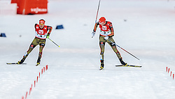 18.12.2016, Nordische Arena, Ramsau, AUT, FIS Weltcup Nordische Kombination, Langlauf, im Bild Fabian Riessle (GER), Eric Frenzel (GER) // Fabian Riessle of Germany, Eric Frenzel of Germany during Cross Country Competition of FIS Nordic Combined World Cup, at the Nordic Arena in Ramsau, Austria on 2016/12/18. EXPA Pictures © 2016, PhotoCredit: EXPA/ JFK