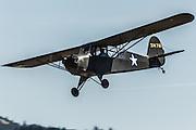 Aeronca L-3 in flight at WAAAM.