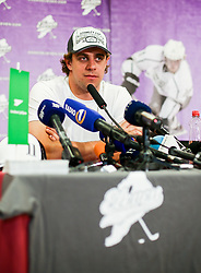 Anze Kopitar during reception after he and his team Los Angeles Kings 2nd time won Stanley cup in the final of NHL on May 26, 2014 in Airport Joze Pucnik, Brnik, Slovenia. Photo By Matic Klansek Velej / Sportida