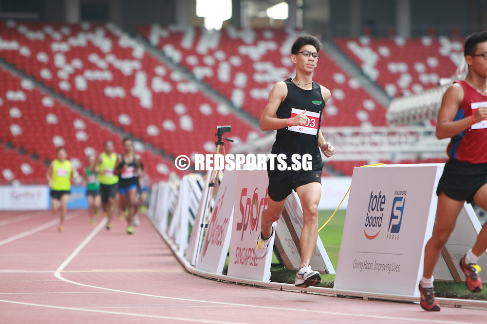 National Stadium, Sunday, May 2, 2016 — Marcus Ong, 29, was the King of 2.4 at the ActiveSG RED RUN 2.4.<br /> <br /> The fastest three runners came in under 8 minutes.<br /> <br /> The project manager in the animation industry finished the 2.4km run in a time of 7 minutes 22.35 seconds.<br /> <br /> https://www.redsports.sg/2016/05/11/activesg-red-run-2-4-marcus-ong-king-of-2-4/