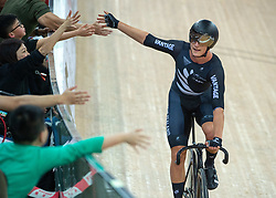 January 27, 2019 - Hong Kong, Hong Kong SAR, China - The New Zealand team of Thomas Sexton  and Campbell Stewart (pictured)wins the Mens Madison Final.UCI Track Cycling World Cup Hong Kong 2019, Qualifiers Leg VI at the Hong Kong Velodrome in Tseung Kwan O ,Kowloon (Credit Image: © Jayne Russell/ZUMA Wire)